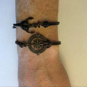 Nautical Leather bracelets